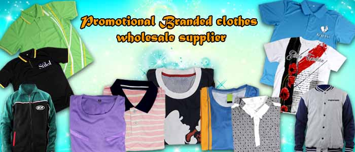 Promotional Branded clothes wholesale supplier