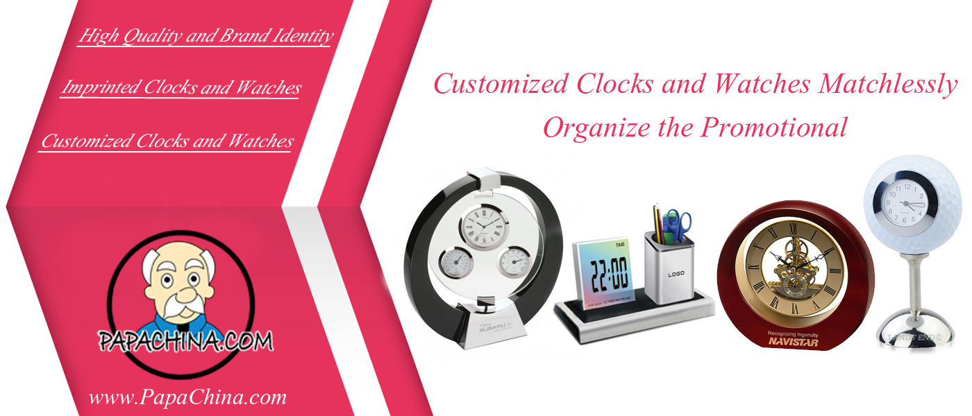Customized Clocks and Watches Matchlessly Organize the Promotional Campaigns