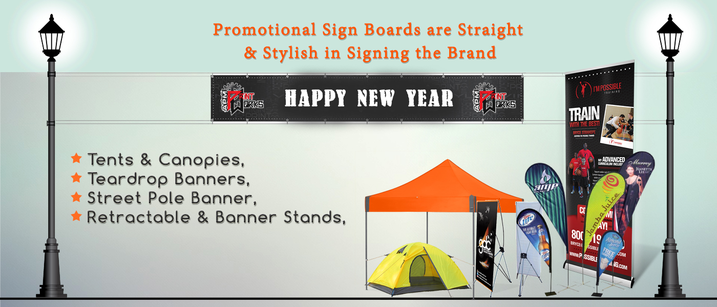 Promotional Sign Boards are Straight and Stylish in Signing the Brand