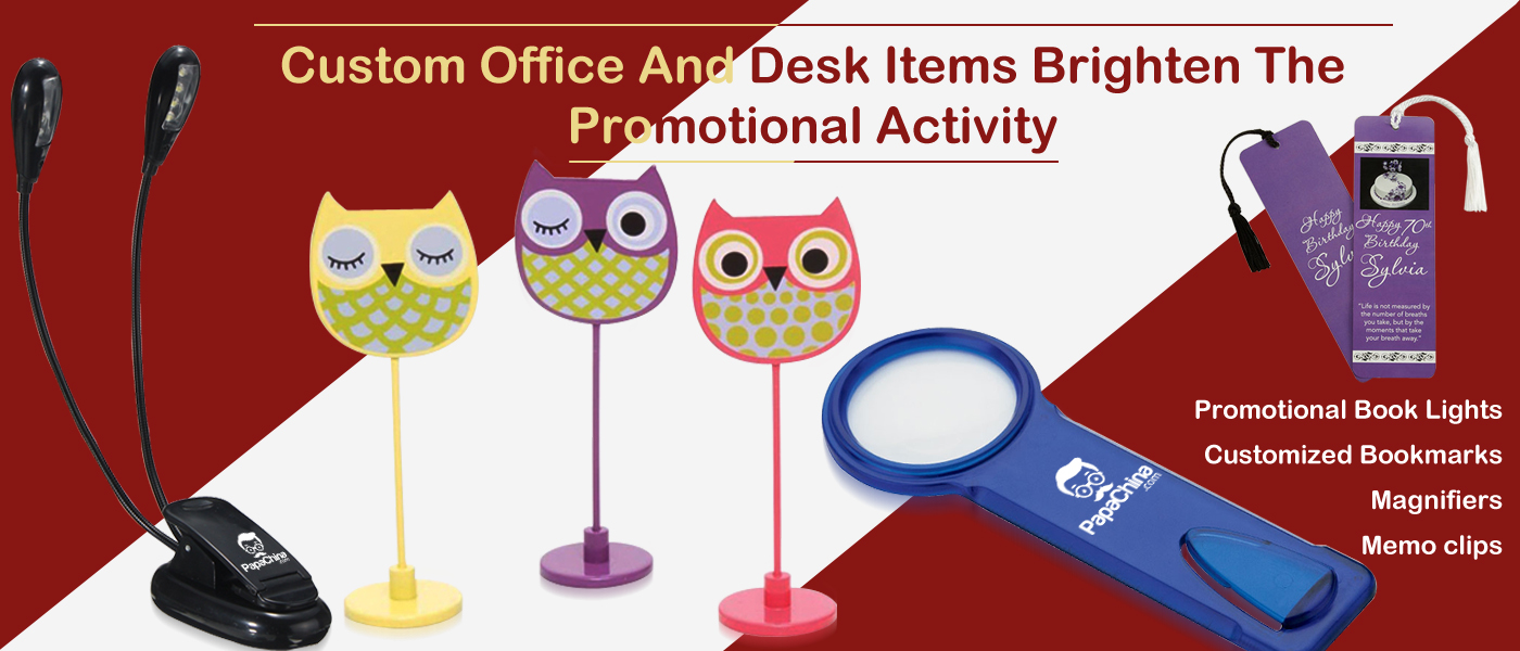 Custom Office And Desk Items Brighten The Promotional Activity