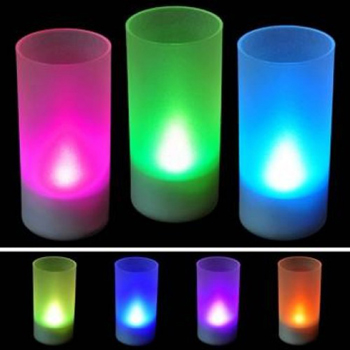 LED flaming flickering candle