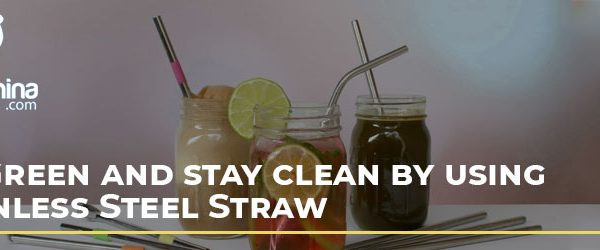 GO GREEN and Stay Clean by using Stainless Steel Straw