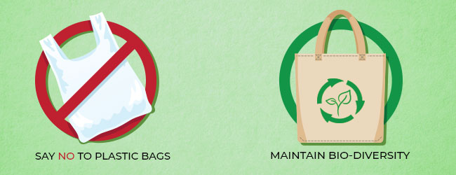 plastic bag and non-woven tote bag