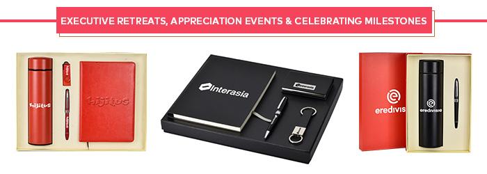 Executive Retreats, Appreciation Events & Celebrating Milestones Gift Sets